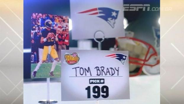 Taco de beisebol, caminhada e vendedor de seguros: 199ª escolha, Brady se emociona ao lembrar 'rejeição' no draft