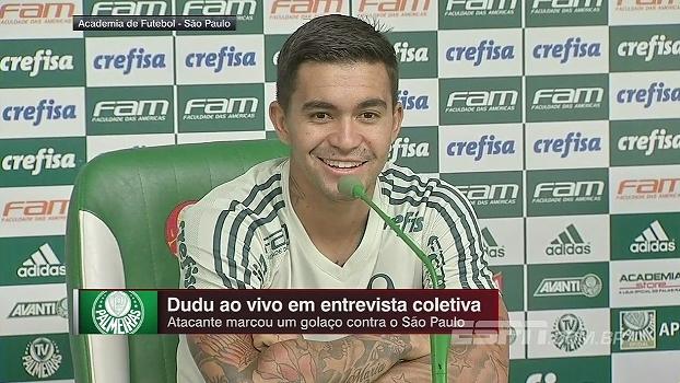 Dudu acompanha Rogério e considera seu gol mais bonito do que o de Robinho: 'Vou apoiá-lo nessa escolha'