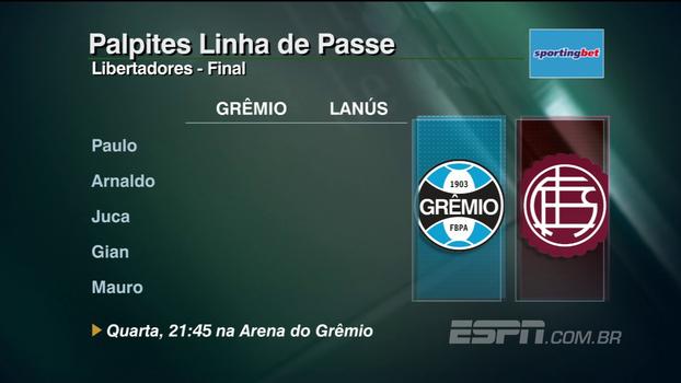 Confira os palpites do 'Linha de Passe' para as final da Libertadores e semi na Sul-Americana