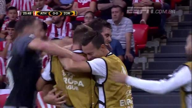 Europa League: Gol de Athletic Bilbao 0 x 1 Zorya