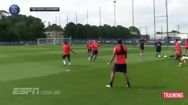 Façanha de Neymar e Verratti chama atenção em treino do PSG