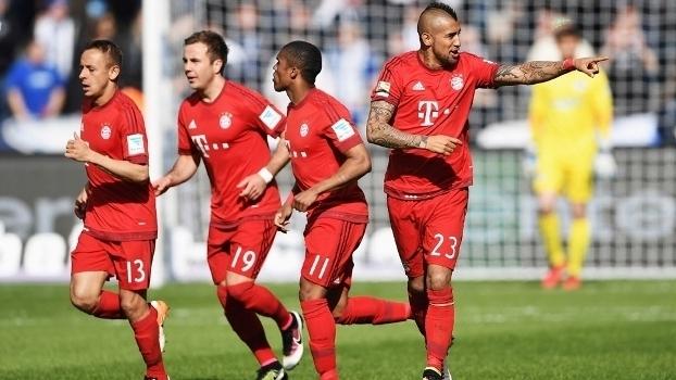 Alemão: Gols de Hertha Berlin  0 x 2 Bayern de Munique