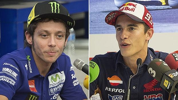 Valentino Rossi admite tristeza ao largar em último; Marc Marquez lamenta: 'Não é possível se concentrar da mesma forma'