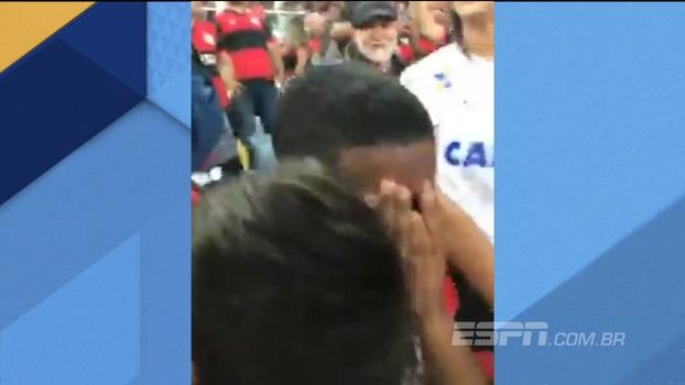 Filho de Márcio Araújo vai às lágrimas após gol da classificação do Flamengo