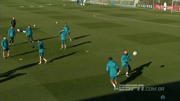 Veja a 'altinha' NOJENTA do Real Madrid se preparando para a partida da Champions
