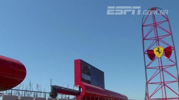 Com montanha-russa de 112m, Ferrari inaugura parque de diversões na Espanha