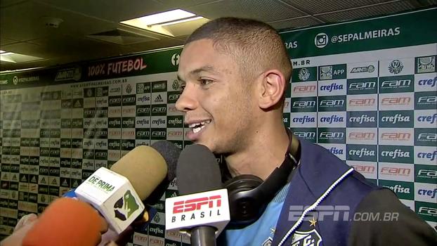 David Braz comemora vitória no Allianz Parque e brinca: 'Tinha vários torcedores santistas infiltrados'