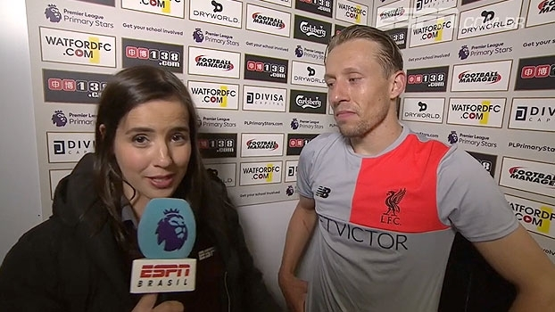 Lucas Leiva e Gomes falam com Natalie Gedra sobre resultado e ambições de Liverpool e Watford
