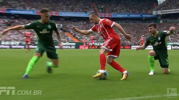 Ninguém segura! Veja drible desconcertante de Ribery para se livrar de dois marcadores