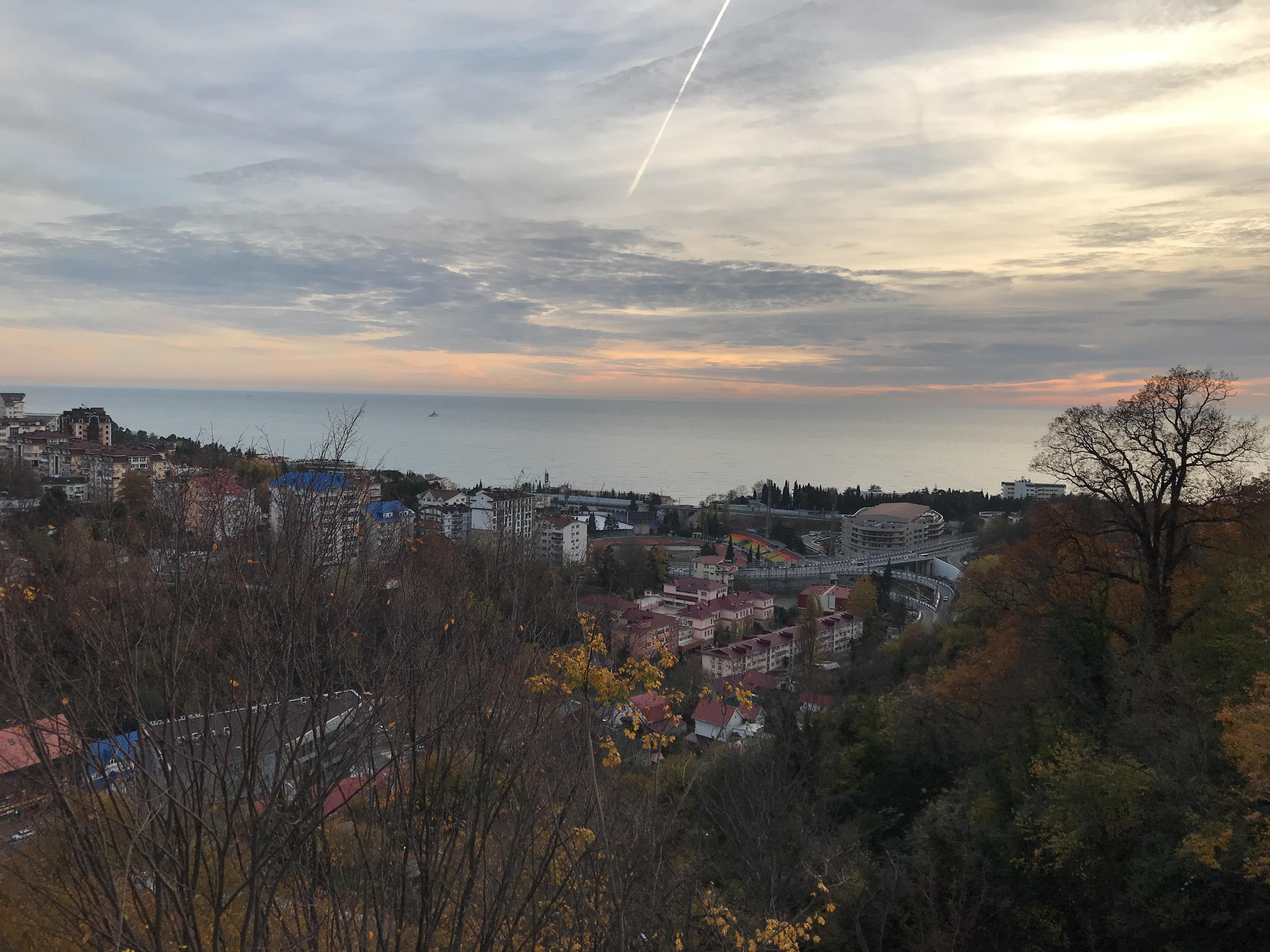 Vista aérea da região de Sochi que vai receber a Seleção Brasileira